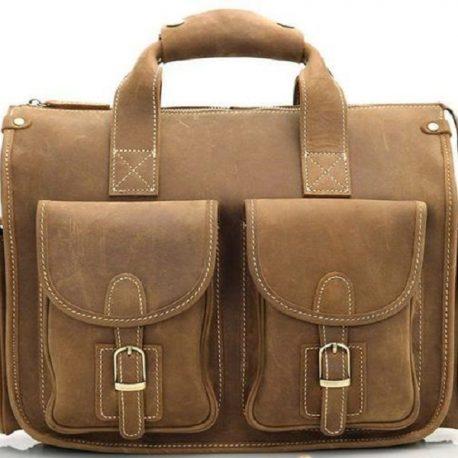Vintage Brown Multi Pocket Casual Satchels
