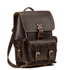 Vintage Dark Chocolate Color Stylish Backpack