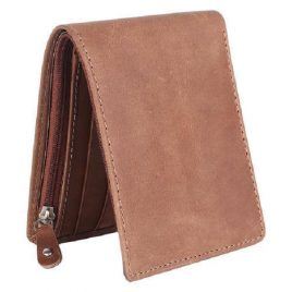 Vintage Dark Tan Color Bi Fold wallet