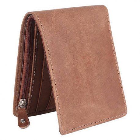 Vintage Dark Tan Color Bi Fold wallet