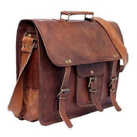 Vintage Look Executive Office Bag With Laptop Carrier