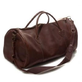 Vintage Maroon Color Large Duffel Bag