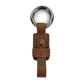 Vintage Shade Blackish Brown Leather Key Ring